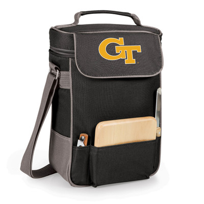 Georgia Tech Yellow Jackets Duet Wine and Cheese Picnic Tote | Picnic Time | 623-04-175-192-0-1