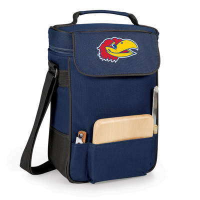 Kansas Jayhawks Duet Wine and Cheese Picnic Tote | Picnic Time | 623-04-138-242-0-1