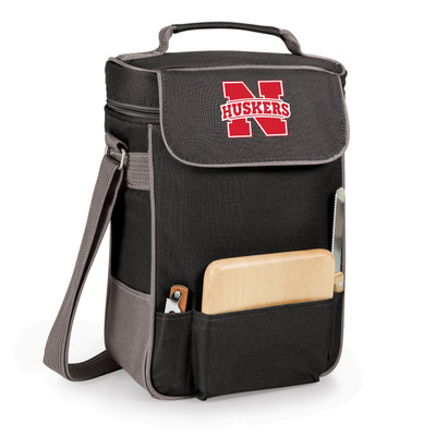 Nebraska Huskers Duet Wine and Cheese Picnic Tote | Picnic Time | 623-04-175-402-0-1