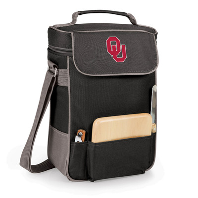 Oklahoma Sooners Duet Wine and Cheese Picnic Tote | Picnic Time | 623-04-175-452-0-1
