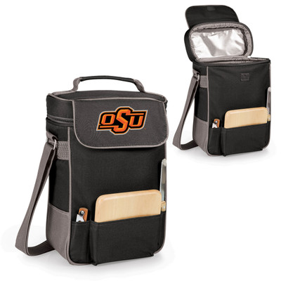 Oklahoma State Cowboys Duet Wine and Cheese Picnic Tote | Picnic Time | 623-04-175-462-0-1