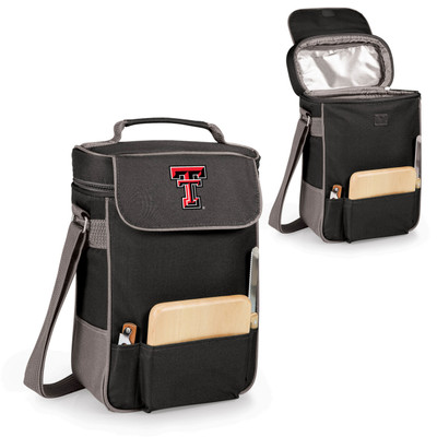 Texas Tech Red Raiders Duet Wine and Cheese Picnic Tote | Picnic Time | 623-04-175-572-0-2