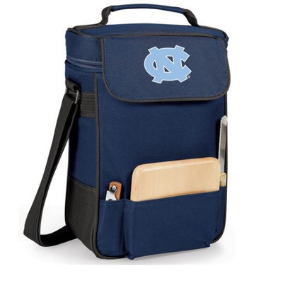 UNC Tar Heels Duet Wine and Cheese Picnic Tote | Picnic Time | 623-04-138-414-0-1