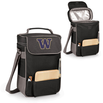 Washington Huskies Duet Wine and Cheese Picnic Tote | Picnic Time | 623-04-175-622-0-1