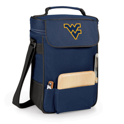 West Virginia Mountaineers Duet Wine and Cheese Picnic Tote | Picnic Time | 623-04-138-834-0-1