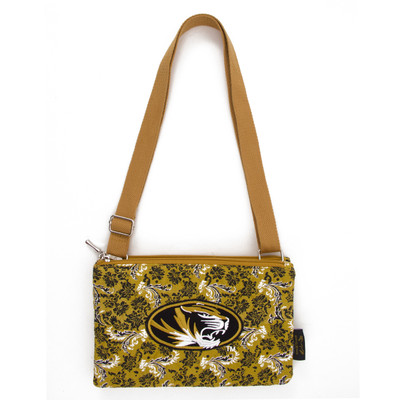 Missouri Tigers Quilted Cotton Crossbody Purse | Eagles Wings | 10155