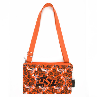 Oklahoma State Cowboys Quilted Cotton Crossbody Purse | Eagles Wings | 10175