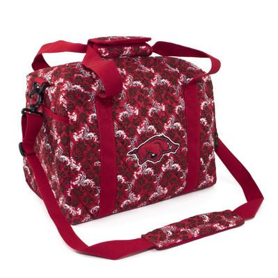 Arkansas Razorbacks Quilted Cotton Mini Duffle Bag