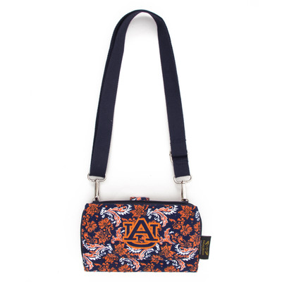 Auburn Tigers Quilted Cotton Cross Body Wallet | eagles Wings | 10111-1