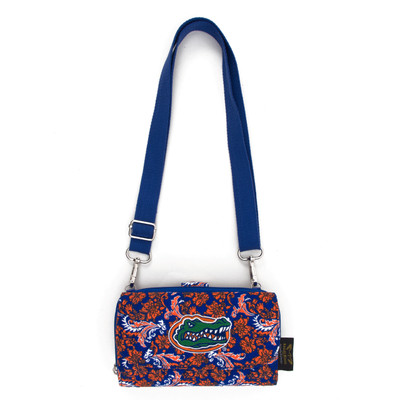 Florida Gators Quilted Cotton Cross Body Wallet   Eagles Wings   10121-1