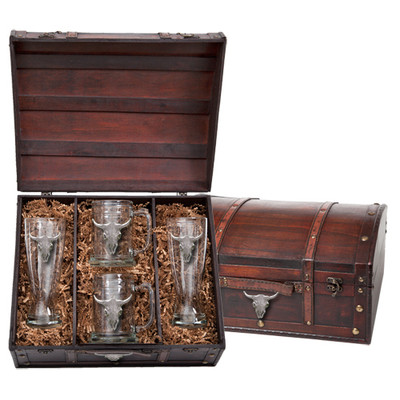 Beer Glass Chest Set