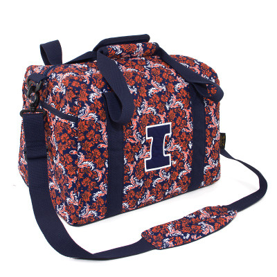 Illinois Fighting Illini Quilted Cotton Mini Duffel Bag | Eagles Wings | 10133