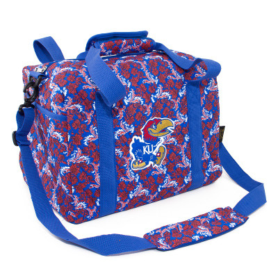 Kansas Jayhawks Quilted Cotton Mini Duffel Bag | Eagles Wings | 10138