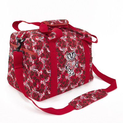 Wisconsin Badgers Quilted Cotton Mini Duffle Bag | Eagles Wings | 10223