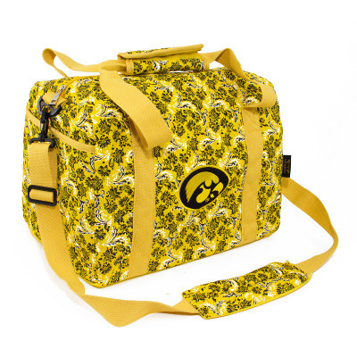 Iowa Hawkeyes Quilted Cotton Mini Duffle Bag | Eagles Wings | 10243