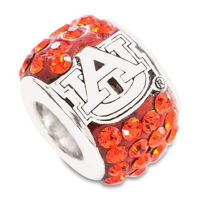 Auburn Tigers Logo Sterling Silver Bracelet Bead Charm | Logo Art | AU070CHM-SS
