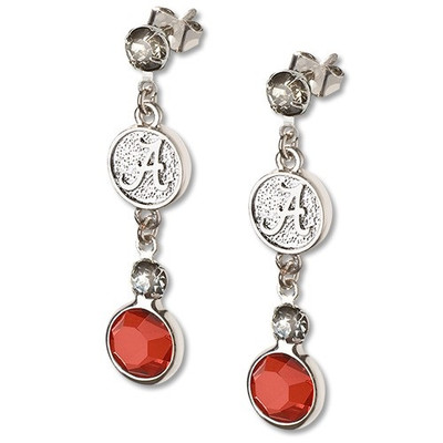Alabama Crimson Tide Crystal Logo Earrings | Logo Art | UAL065ER-CR