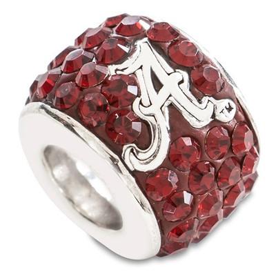 Alabama Crimson Tide Sterling Silver Bracelet Bead Charm | Logo Art | UAL070CHM-SS