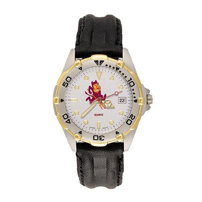 Arizona State Sun Devils Men's All-Star Leather Watch | Logo Art | AZS101