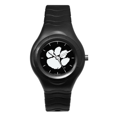 Clemson Tigers Men's Shadow Black Sports Watch | Logo Art | CU112
