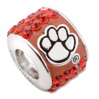 Clemson Tigers Logo Sterling Silver Bracelet Bead Charm | Logo Art | CU070CHM-SS