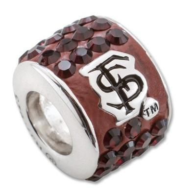 FSU Seminoles Sterling Silver Bracelet Bead Charm | Logo Art | UAL070CHM-SS