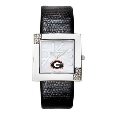 Georgia Bulldogs Women's Chrome Ladies Glamour Watch | Logo Art | UAR131