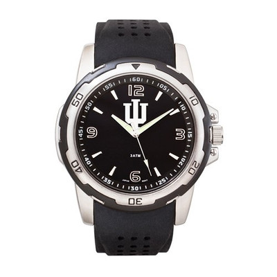 Indiana Hoosiers Men's Stealth Sports Watch | Logo Art | IU141