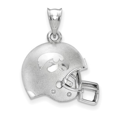 Iowa Hawkeyes Sterling Silver 3D Football Helmet Pendant | Logo Art | LGASS505UIA