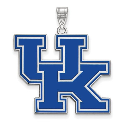 Kentucky Wildcats Blue Logo Sterling Silver Enamel Pendant | Logo Art | SS081UK