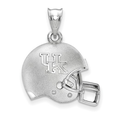 Kentucky Wildcats Sterling Silver 3D Football Helmet Pendant | Logo Art | LGASS505UK
