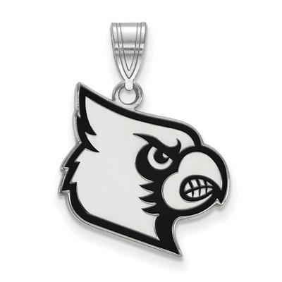 Louisville Cardinals Script Sterling Silver Enamel Pendant | Logo Art | SS058UL