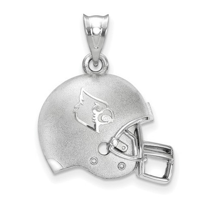 Louisville Cardinals Sterling Silver 3D Football Helmet Pendant | Logo Art | LGASS505UL