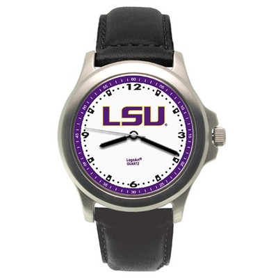 LSU Tigers Rookie Leather Men's Watch | Logo Art | LSU109