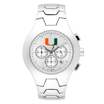 Miami Hurricanes Men's Hall of Fame Watch | Logo Art | LGAUMF113