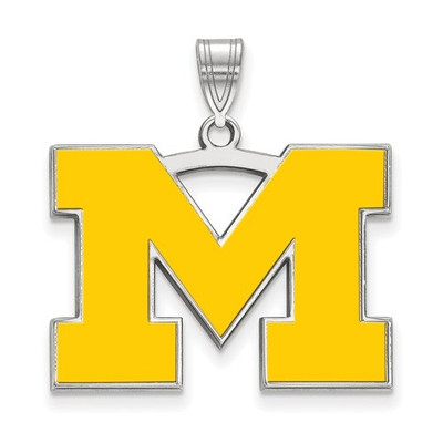 Michigan Wolverines M Enamel Pendant | Logo Art | SS029UM