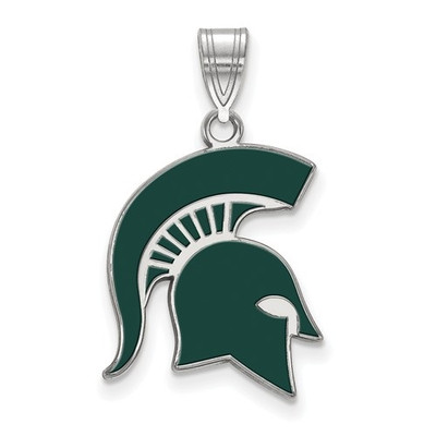 MSU Spartans Enamel and Silver Pendant | Logo Art | SS060MIS