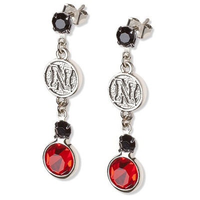 Nebraska Huskers Crystal Logo Earrings | Logo Art | UNE065ER-CR