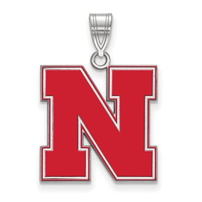Nebraska Huskers Red Enamel Pendant | Logo Art | SS092UNE