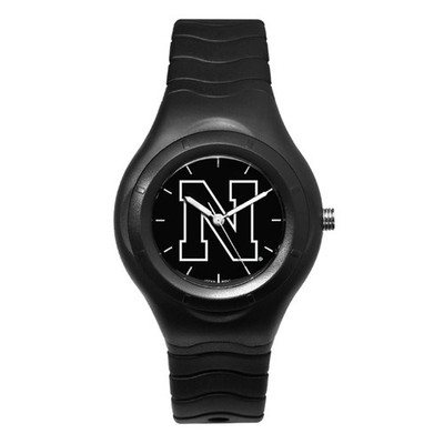 Nebraska Huskers Men's Shadow Black Sports Watch | Logo Art | UNE112