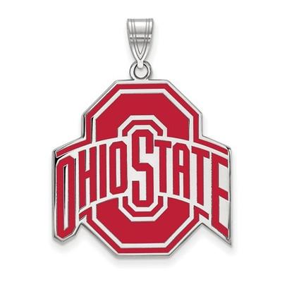 Ohio State Buckeyes Red Enamel Pendant | Logo Art | SS086OSU