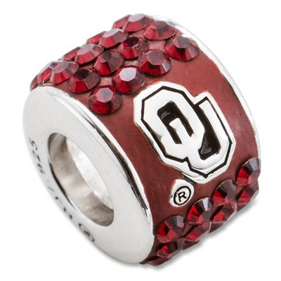 Oklahoma Sooners Logo Sterling Silver Bracelet Bead Charm