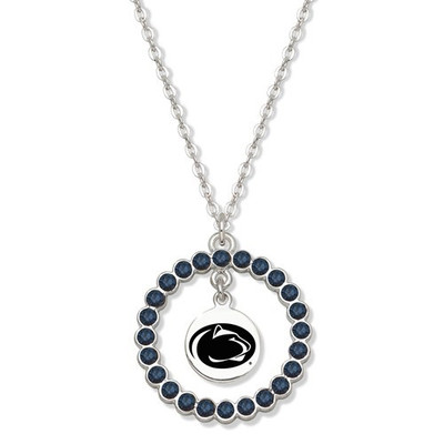 Penn State Nittany Lions Spirit Crystal Logo Wreath Necklace | Logo Art | PSU067N-CR