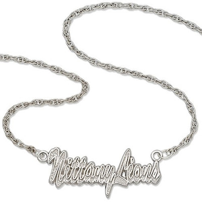 Penn State Nittany Lions Sterling Silver Script Necklace | Logo Art | PSU045N-SS