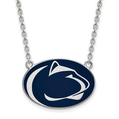 Penn State Nittany Lions Sterling Silver Enamel Necklace | Logo Art | SS019PSU-18