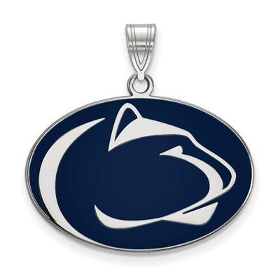 Penn State Nittany Lions Sterling Silver Enamel Pendant | Logo Art | SS009PSU