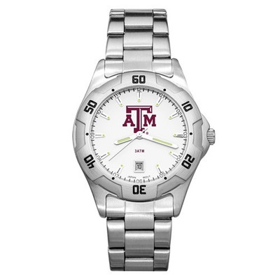 Texas A&M Aggies Men's All-Pro Men's Chrome Watch | Logo Art | TAM163