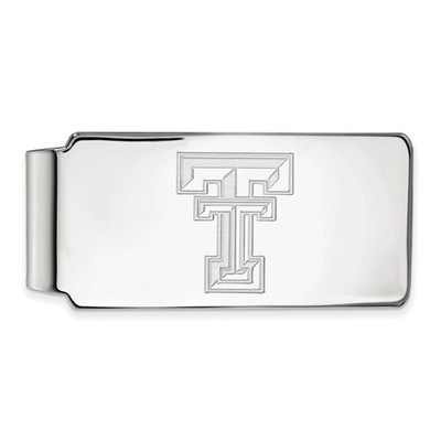 Texas Tech Red Raiders Sterling Silver Money Clip | Logo Art | SS025TXT