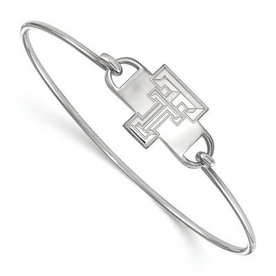Texas Tech Red Raiders Sterling Silver Bangle Bracelet   Logo Art   SS022TXT-7