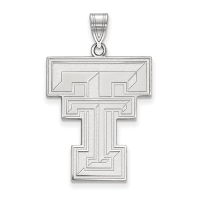 Texas Tech Red Raiders Sterling Silver Pendant | Logo Art | SS005TXT